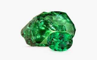 Цаворит – история, полезные свойства и описание камня